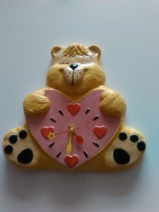 Teddybear clock by Gary Raven