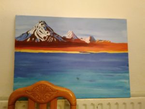 Snowy mountains by Susannah Donnelly