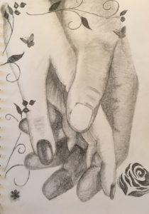 Holding hands by Lenny Jordan Blinding Art