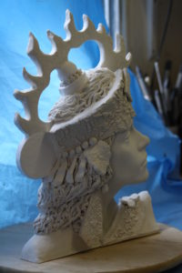 intuitive female head 2 by Athol Tufnell