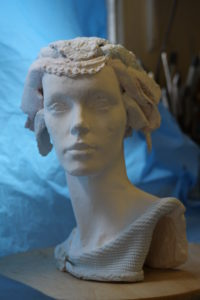 intuitive female head by Athol Tufnell