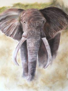African elephant by Lenny Jordan Blinding Art