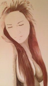 Long-haired girl by Lenny Jordan Blinding Art