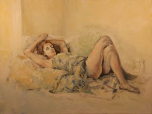 model resting by Athol Tufnell