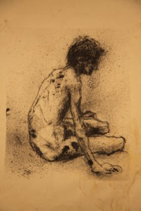 drawing of a boy by Athol Tufnell