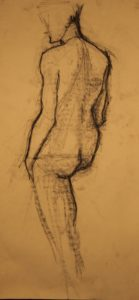 drawing of model by Athol Tufnell