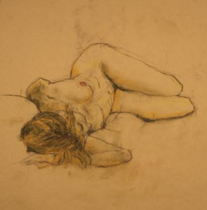 drawing of a model by Athol Tufnell