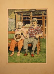 mum and dad at easter by Athol Tufnell