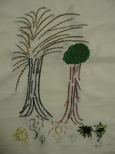 Untitled (Trees and Flowers) by Tracy Yates