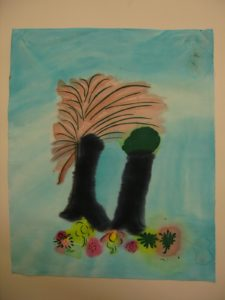 Untitled (Trees and Flowers 2) by Tracy Yates