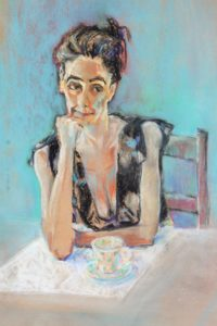 portrait of a model by Athol Tufnell