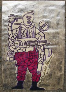 Brother in Gulf War (Pink Trousers) by Amy's Postures IV