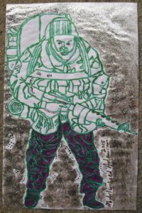 Brother in 1990 Gulf War by goldink100