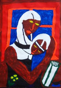 Black Madonna & Child by Brother in 1990 Gulf War
