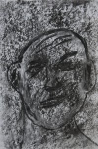 Drawing of face by Sean McManus