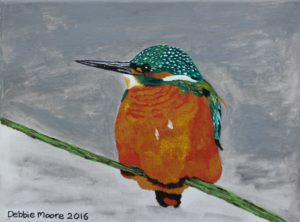 Wintery Kingfisher by Debbie Moore