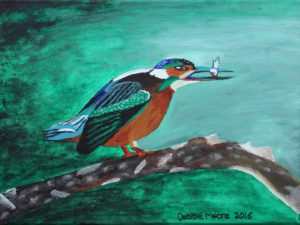 Hungry Kingfisher by Debbie Moore
