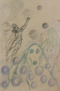 Drawing of fantasy illustrations by Judy Reynolds