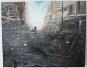 Douma Main Street – Damascus Nov 2015 by Andy Burton