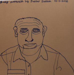 Self portrait by Peter Sutton by Peter Sutton