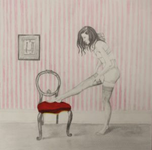 Red Chair by Michael John