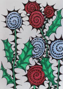 Christmas Flowers by arlene c