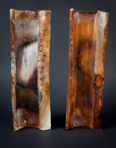 Tall Saggar fire Vases by Natalie Naylor