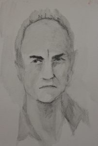 portrait of John Pipal by Louise Alexander