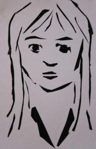 Self portrait by Louise Alexander