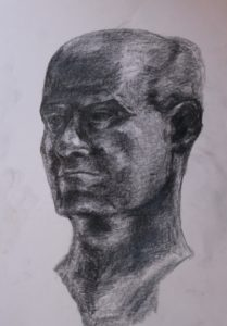 Copy of bust by Louise Alexander