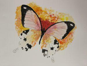 Orange Butterfly – Kerry by Lenny Jordan Blinding Art