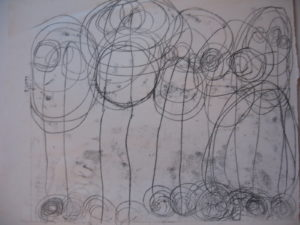 monoprint 3 by Alan Critchett