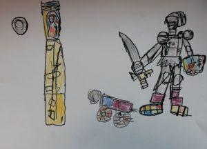 A Knight saving a Princess by Leighton Beagles