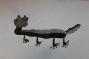 A gray  Cat by Raphael (Teenage Mutant Ninja  Turtles)