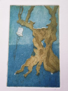 Olive tree with bell by Debbie Sutton
