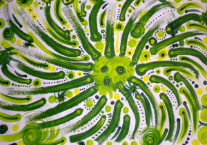 Green Zinger 1 by Christine Ellis