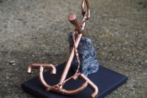 anchor on granite by Geoff Christie