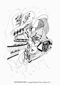 IMPROVISATION 2 by Automatic Biro Art