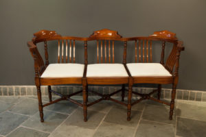 Three seat Mahogany Settle by Ross Gilbertson