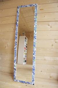 Wedgwood blue Mirror by vanessa clark