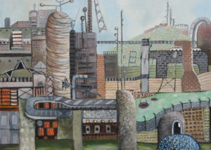 Industrial Landscape by Linda Wallis
