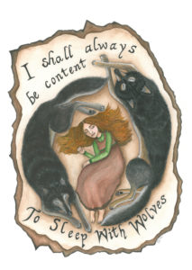 I Shall Always Be Content To Sleep With Wolves by Elle Isolde