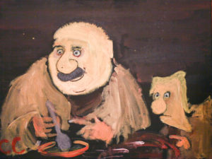 Jack and Bill and The Fogrunt Amulet. After Goya. by Colin Cameron