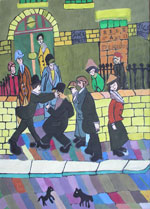Jack Street (after Lowry) by Jacqueline Burton