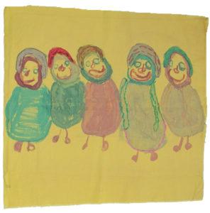 jackie_marsh_five_figures_on_cotton by Jackie Marsh