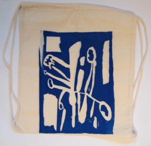 Canvas bag with print by Eric James Grantham