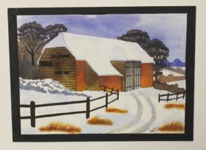 Barn in Snow by James Knights