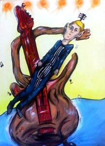 Guitar Plays Man by Jasmine Surreal