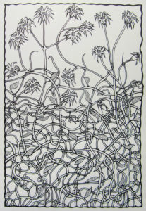 Flowers With Tangled Stems by Mat (JimDogArt)