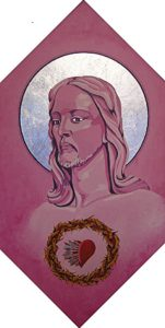 Jesus in Purple by john anderson